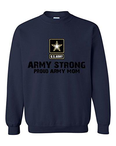 Artix U.S. Army Star Army Strong Proud Army Mom Unisex Crewneck Sweatshirt XX-Large Navy Blue