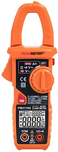 Yadianna クランプメーターは、NCVデジタルテスター多機能を備えたポータブルスマートマルチメータAC DC電流電圧抵抗導通測定テスターをPM2118S