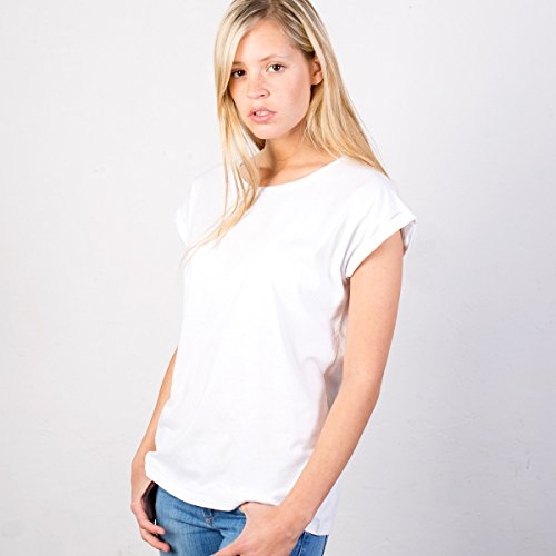 JUNIWORDS Damen T-Shirt rolled up sleeves -