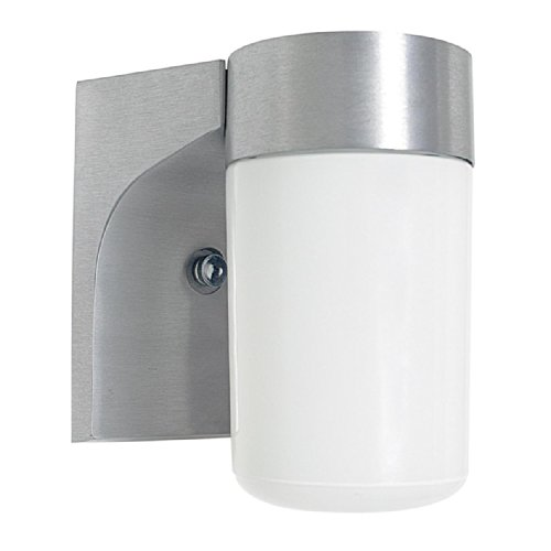 Sunset Lighting F4511-16 Outdoor Wall Sconce with Opal Glass, Satin Aluminum Finish Review