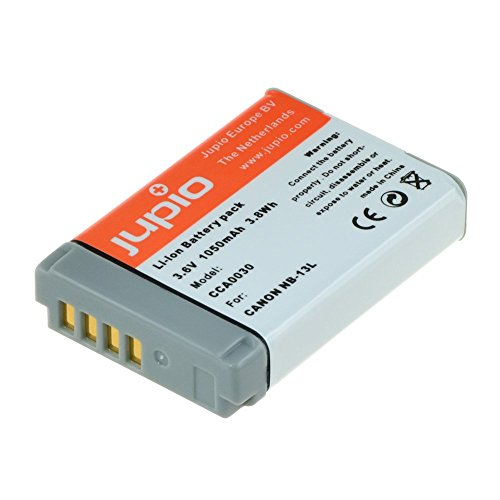 Jupio Digital Camera Replacement Battery for Canon NB-13L, Grey (CCA0030) by JUPIO