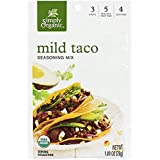 Simply Organic Mild Taco Seasoning, Certified Organic, Vegetarian | 1 oz | Pack of 3