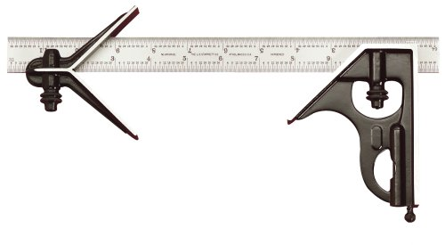 Starrett C33HC-12-4R 12-Inch Combination Square With Forged And Hardened Steel Head