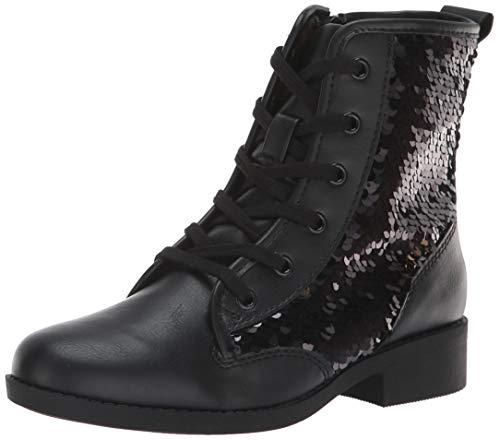 (Steve Madden Girls' JREGAL Fashion Boot Black/Multi 2 M US Little)