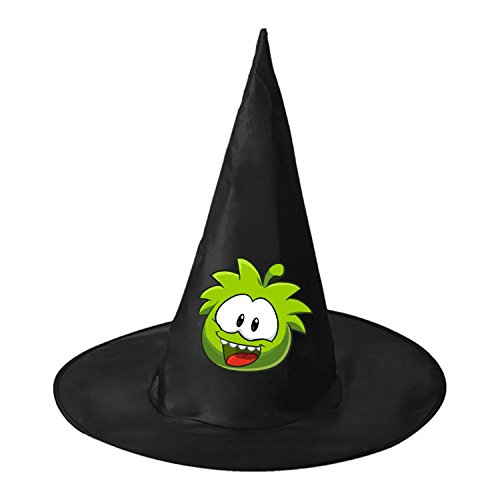 RRUH Halloween Black Witch Hat-My om nom (Cut The Rope Om Nom Costume)
