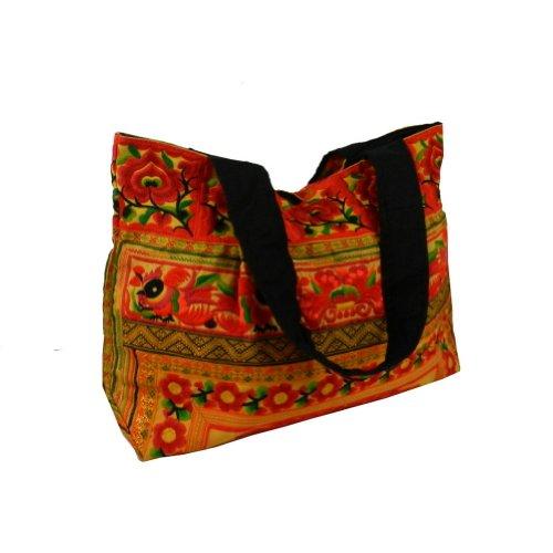 BenThai Products, Borsa tote donna Rosso Multicolor XL