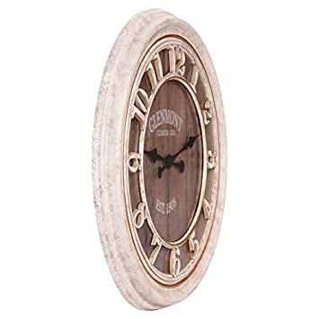 28 Distressed Gray Wood Plank Glenmont Wall Clock