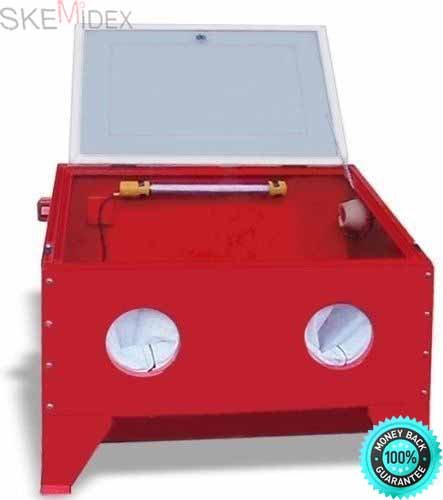 SKEMiDEX--- New Table Top Abrasive Sandblaster Cabinet Sand Blaster Abrasive Sand Blaster Cabinet Air requirement: 5 CFM at 100 PSI For use with glass beads, silica sand, alum oxide and more. by SKEMiDEX