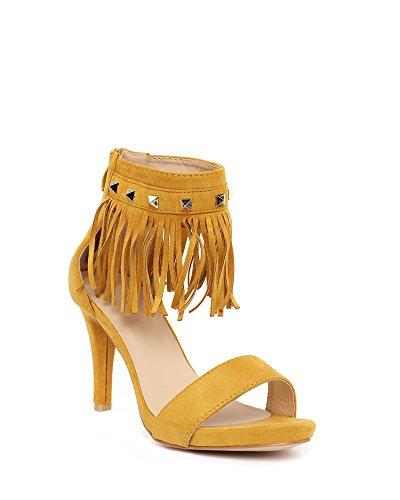 JEZZELLE - Sandalias de vestir para mujer mostaza
