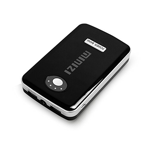 Tektalk Brilliant Dual USB (2.0A / 1.0A Output) Portable Phone Charger Power Bank with LED Flashlight External Battery for Iphone / Ipad / Samsung Galaxy / Android Phone / Smartphone / Tablets Pc / Bluetooth Speaker - Black and Silver (12000mAh, Black)