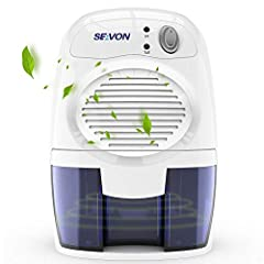 SEAVON Mini Dehumidifier quickly and efficiently removes moisture from the air. It is perfect for use in small spaces such as your kitchen, garage, basement, caravan, wardrobe, boat or anywhere else prone to damp air. It works with noiseless ...