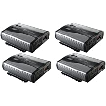 (4) Cobra CPI1575 1500 WATT DC to AC Car Power Inverters w/ 3 Outlets & USB Port