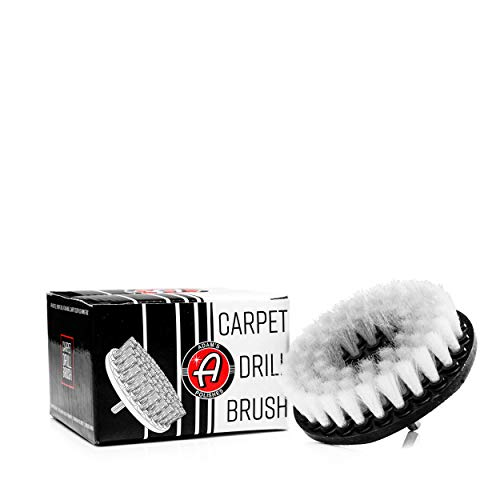 - Adam's Carpet Drill Brush - A Cleaning Tool Attachment for Scrubbing/Cleaning Carpet, Upholstery, Leather Seats & Chairs, Floor Matts, Trunk, Furniture, Interior Boat, RV & Car Accessories