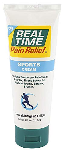 (Real Time Pain Relief Sports Cream, 4 Ounce Tube)