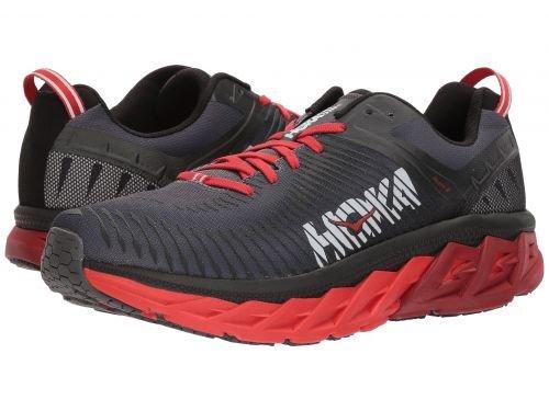 Hoka One One(ホカオネオネ) メンズ 男性用 シューズ 靴 スニーカー 運動靴 Arahi 2 - Black/High Risk Red [並行輸入品] B07C8GW6RQ