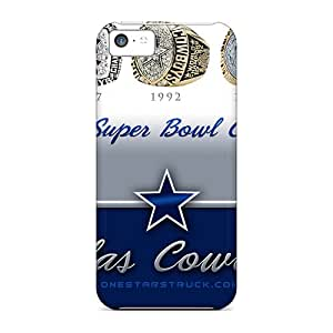 Iphone 5c Case Cover - Slim Fit Tpu Protector Shock Absorbent Case (dallas Cowboys)