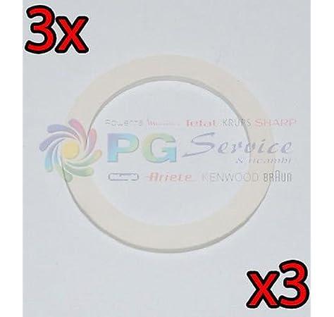 DeLonghi 3 x Junta original 6 tazas Cafetera Moka Alicia EMK6 emke63: Amazon.es: Hogar