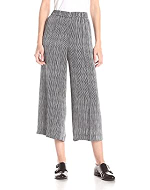 Theory Women's Raoka with Modern GGT Stripe Wideleg Pant