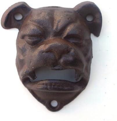 1 BullDog Cast Iron Bottle Opener Mountable Vintage Look Man Cave English Dog