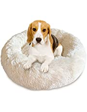 Docatgo Pet Bed, Super Soft Dog Bed, Shag Faux Fur Bed Cushion for Cats (Round)