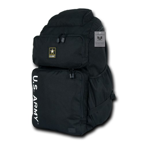 Rapiddominance Army Top Load Backpack, Black by Rapid Dominance