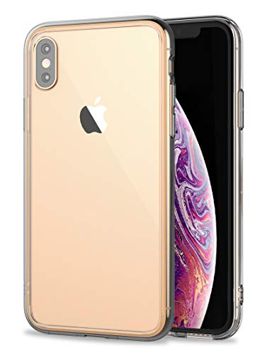 Crystal Premium Hard (iPhone Xs Max Clear Case,RORSOU Clear Hard 9H Tempered Glass Back [Anti-Scratch] + Soft TPU Bumper [Slim Thin] Premium Hybrid Protective Case for Apple iPhone Xs Max 6.5 Inch (2018) - Crystal Clear)