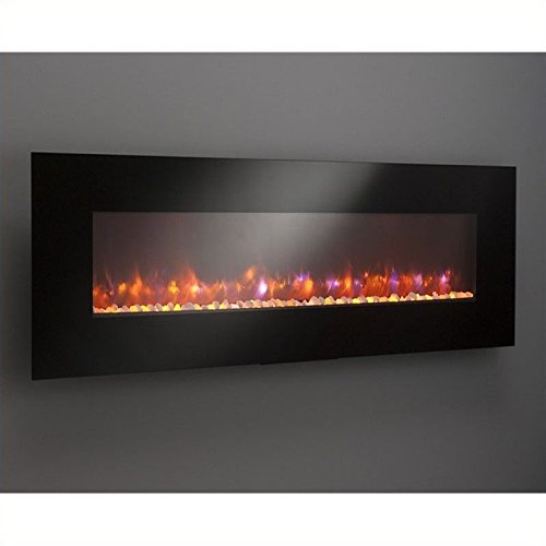 Outdoor Great Room GE-70 70-Inch Gallery Linear Electric LED Fireplace, Includes LED Backlighting, Heater, IR Remote, 6-Feet Cord, Stonefire Media (Ir Fireplace Heater compare prices)