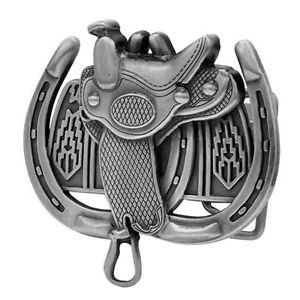 Buckle Rage Adult Womens Saddle Horseshoe Western Horse Ride Belt Buckle Silver from Buckle Rage