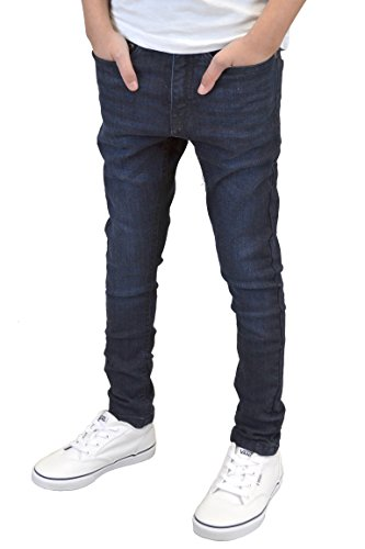 Boys Skinny Stretch Ripped & Non Ripped Jeans Darkwash