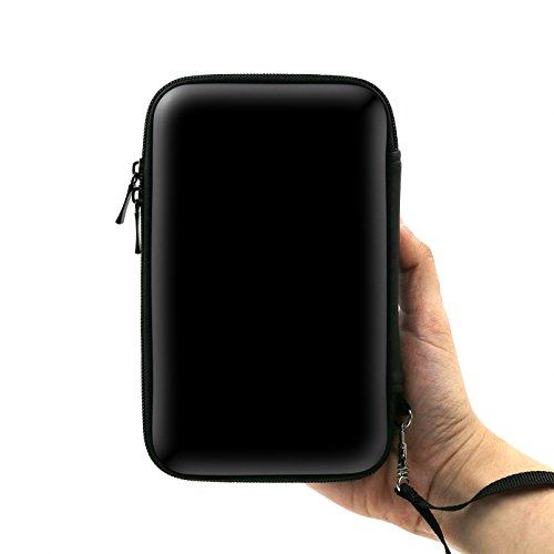 ADVcer EVA Waterproof Hard Shield Protective Carrying Case with Detachable Hand Wrist Strap for Nintendo New 3DS XL, New 3DS, 3DS XL, 3DS, 3DS LL (Black)