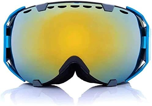スキーゴーグル スノーゴーグル 視界広く デュアルレンズスキーゴーグルのオートバイ球面スノーボードアンチフォグUVメガネオートバイアクセサリーツールアセンブリ 防塵 防雪 軽量 耐衝撃 男女兼用