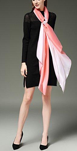 Bufanda Color 3 Uv Seda degradado Rosa Verano bufanda Gran Todo Anti bufanda Mujer colorida Invierno 5 larga CqEaBIwE