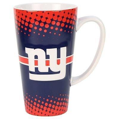 Boelter Brands NFL New York Giants Sculpted Latte Mug, 16-ounce (Mug Giants York New)