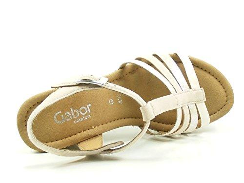 Sandal 82 Gabor 826 Jesmond Beige Wedged 6Uxwx8
