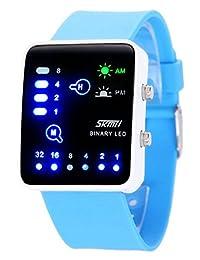 Nollimet Unisex LED Mini Digital Casual Touch Screen Sport Water Designer Style Watch Light Blue