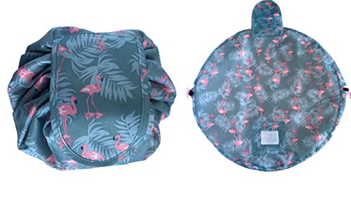 Drawstring style casual waterproof lady cosmetic bag folding