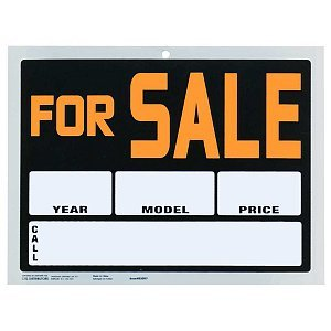 """9x12"""" Pvc Sign """"For Sale"""" (Year/ Model/Price/Call)"""