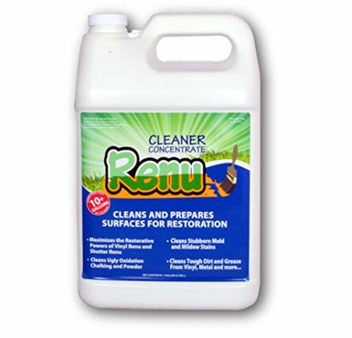 Renu Cleaner Gallon-Easily Eliminate Ugly Green Algae, Stains and Oxidation. This Premium, No Bleach, No VOC, Non-Toxic, Concentrated Cleaner Is Now Available To Consumers. Makes Up To 10 Gallons