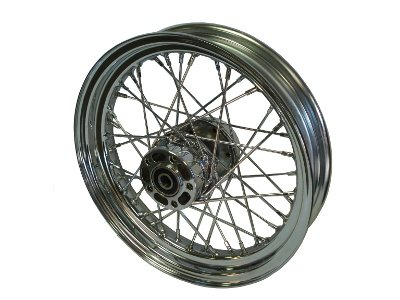 KCINT 16X3 Rear Wheel for Harley Sportster XL DYNA 2000-04 SOFTAIL FLST FXST 2000-07 (Front Spoked Rims)