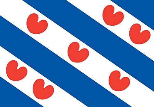 DIPLOMAT-FLAGS Friesland Flag | landscape flag | 0.06m² | 0.65sqft | 20x30cm | 8x12in for Car Flag Poles
