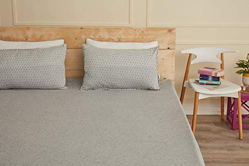 """Wakefit Water Proof Terry Cotton Mattress Protector 72""""x36"""" - Single, Grey 2"""