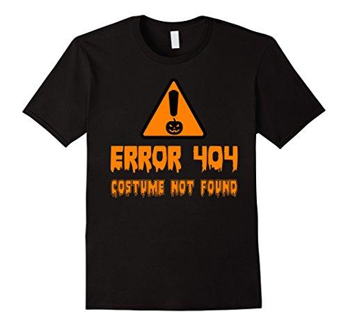 [Men's Error 404 Costume Not Found Funny Halloween T-Shirt Medium Black] (Costume Not Found 404)