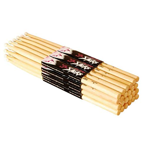 On Stage 5B Maple Drum Sticks - (12 Pack) (Wood Tip) ()