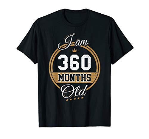 Funny Vintage 30th Birthday T-Shirt I'm 360 Months Old Gift]()