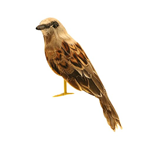 MagiDeal Artificial Bird Feathered Realistic Sparrow Home Garden Decor Ornament 7 Colors - 1