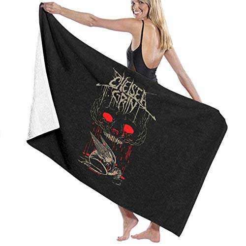 (Chelsea Grin Blood Rain Beach Towels Ultra Absorbent Microfiber Bath Towel Picnic Mat for Men Women Kids White)