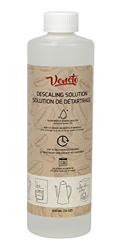 Veneto Kitchen's 14oz Odourless Descaling Liquid Solution for Coffee Machines and Kettles for Extended Brewer Life (1)