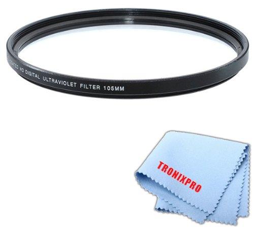 Tronixpro 105mm Pro Series High Resolution Digital Ultraviolet UV Protection Filter for Sigma 120-300mm f/2.8 DG OS HSM Lens + Microfiber Cloth