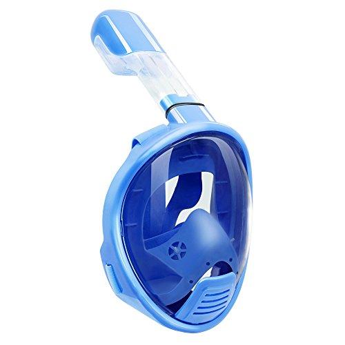 Witmoving Easybreath Snorkel Mask Kids Full Face Panoramic 180 Degree Full view Panoramic Diving Anti Fog Anti Leak for Children - Swin Goggles