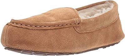 Amazon Essentials Women's Pine Leather Moccasin Slipper